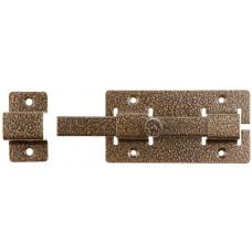 Задвижка накладная для дверей бронза 15х145х15 мм 75х115 мм ЗД-06 37788-6