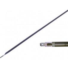 ТЭН гибкий сухой 700 Вт D-6.5 мм L-750 мм нержавеющий контакты под разъём или под винт М4 03.607