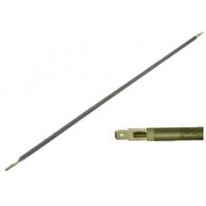 ТЭН гибкий сухой 1200 Вт D-8.5 мм L-1130 мм нержавеющий контакты под разъём или под винт М4 03.812